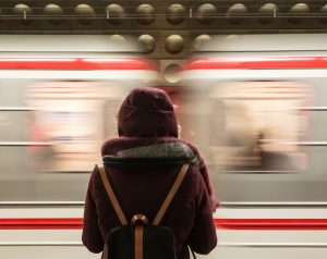 girl in the metro