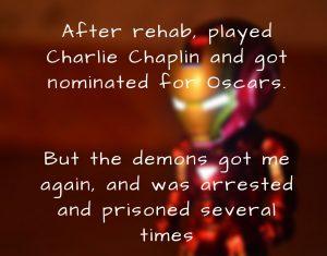 Robert Downey jr, Inspirational story, True motivational, short story, Iron man.