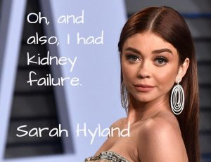sarah hyland, inspirational story, don't quit in the pit, motivational story