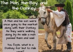 Short story, short stories with moral, shortest stories with moral, short stories for kids, The man, the boy and the donkey