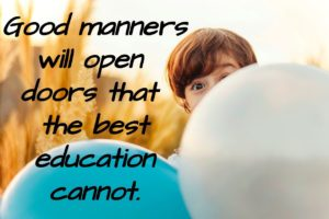 Good manners, paragraph on good manners, Good manners for kids, good manners for school, good manners for students